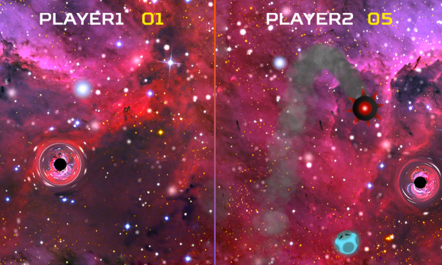 Black Hole Master screenshot, showing some 													of the new power-ups.